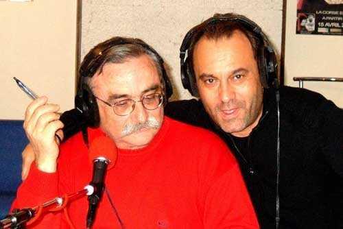 Petru Mari et Jean-Paul Luciani, le journaliste qui réalise les reportages en Corse