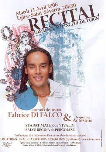 L'affiche du spectacle religieux de Fabrice Di Falco
