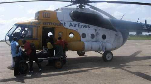 L'hélicoptère avant l'accident