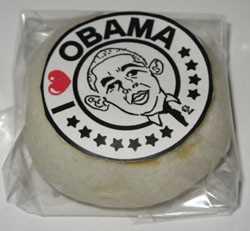 L'effigie de Barack Obama sur une spécialité culinaire d'Obama