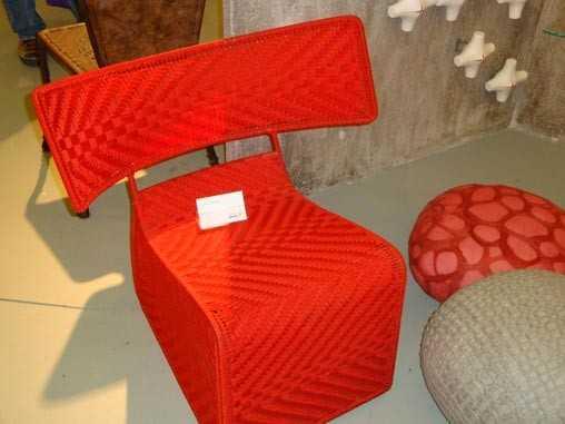 chaise en fil de pêche conçue par Cheick Diallo