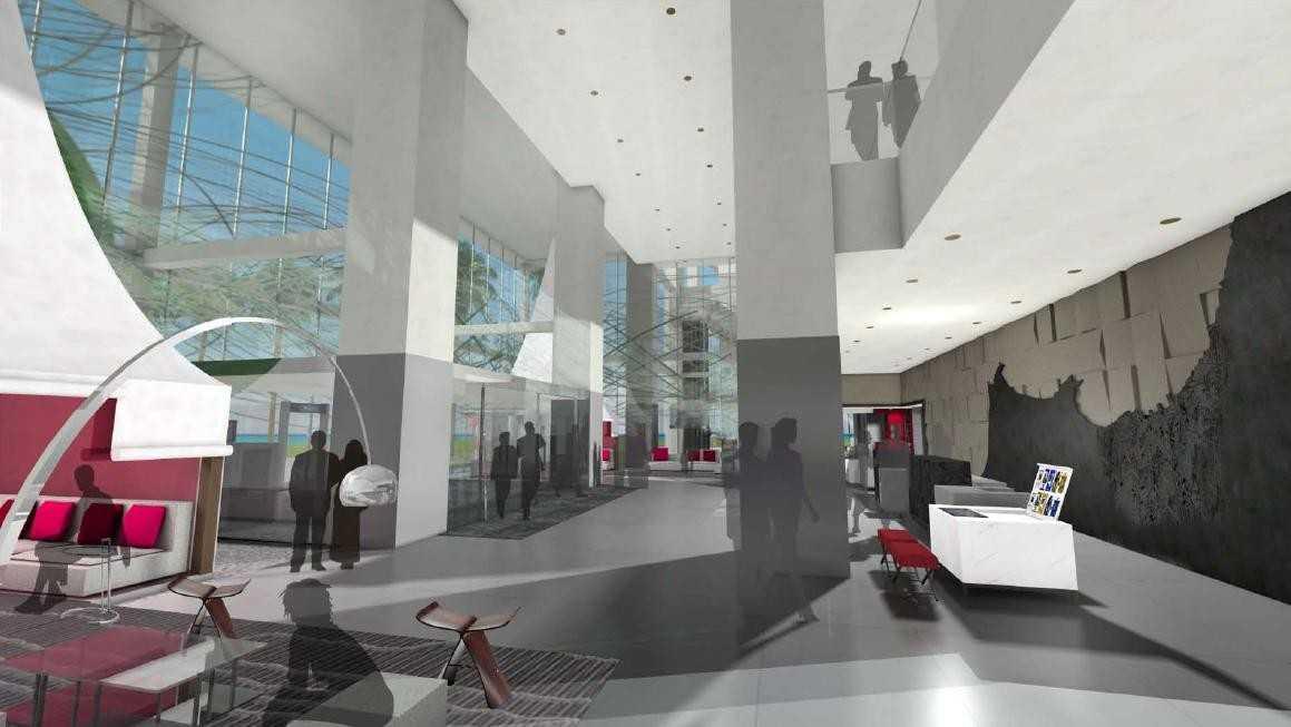 Maquette du futur lobby du Méridien Oran