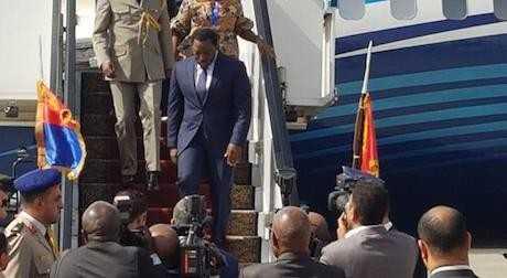 Joseph Kabila arrive en Egypte (22 avril 2017)