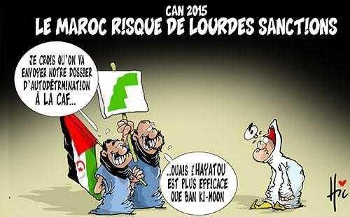 Caricature algérienne. Source : Le Hic, 2014