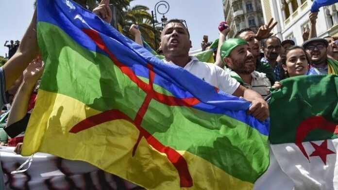 Bandera de argelia amazigh