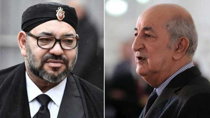 El rey de Marruecos, Mohammed VI y el presidente argelino, Abdelmadjid Tebboune