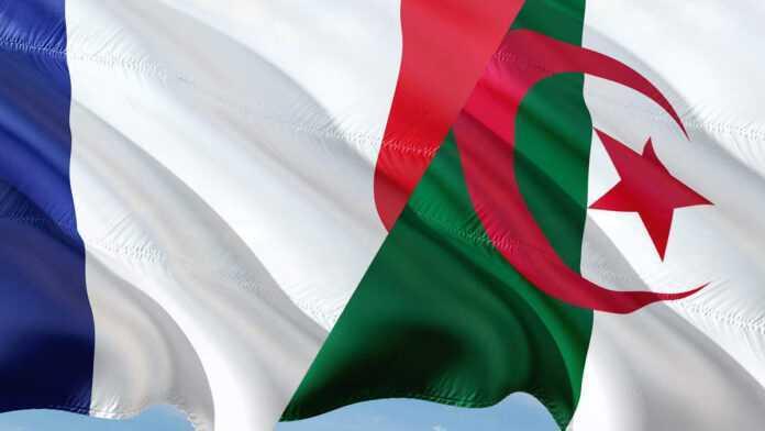 Banderas de Francia y Argelia