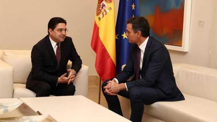 Nasser Bourita y Pedro Sanchez